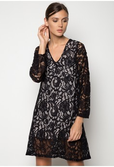 Mira lined Lace Dress