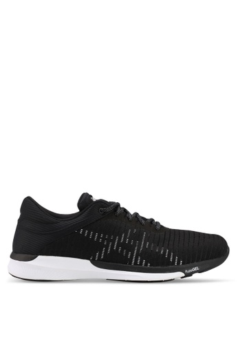 Asics black Fuzex Rush Adapt Shoes AS989SH0SVSMMY_1