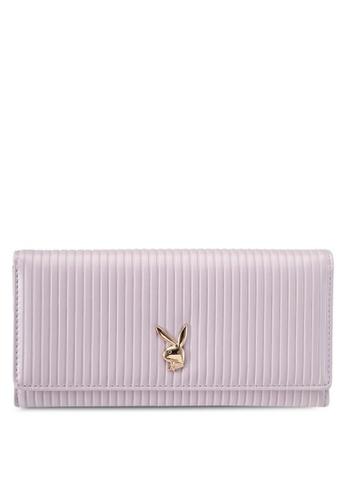 PLAYBOY BUNNY purple Playboy Bunny Long Purse PL604AC0SKNEMY_1