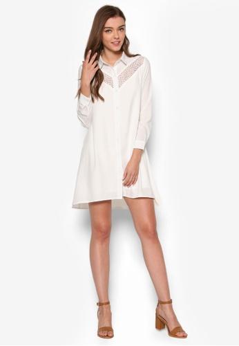Buy ZALORA Love Lace Insert Shirt Dress Online  726fc0bda
