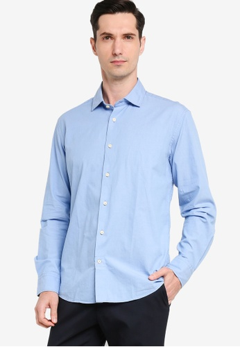 Sacoor Brothers blue Men's Plain Casual Shirt 1D29DAA1CAC79EGS_1