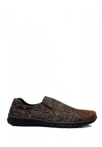 D-Island brown D-Island Shoes Mix Donald Comfort Denim Brown F6FADSHE86E2B9GS_1