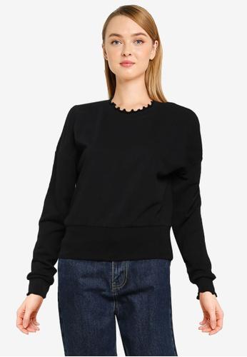 ONLY black Haisley Life Sweatshirt 57319AA88664B8GS_1