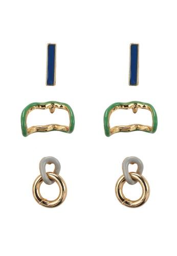 Mango gold Mixed Bead Earrings D786BAC4854CC9GS_1