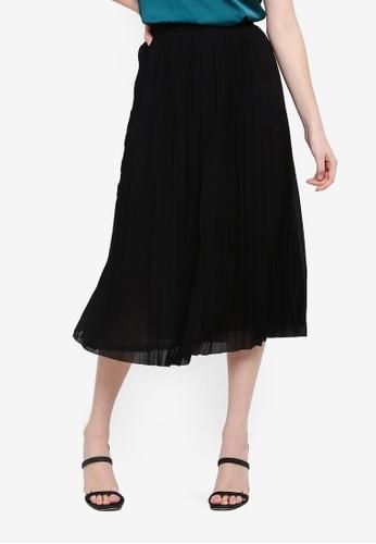 FORCAST black Norah Pleated Skirt 4D87EAAF750969GS_1