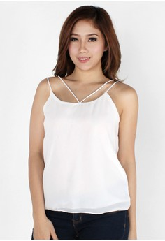 Sexy Colored String Chiffon Top