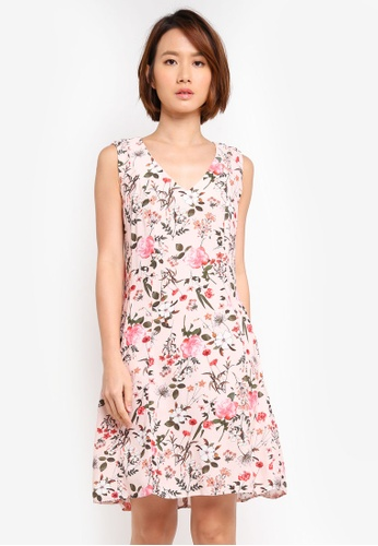 Dorothy Perkins pink Blush Floral Fit And Flare Dress 0787AAA910D8C1GS_1