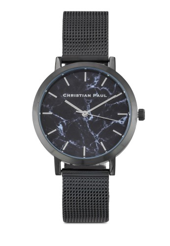 The Strand 35mm 大理石印花網眼帶手錶, 錶類, esprit 香港飾品配件