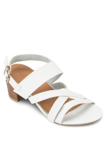 Pearl 簡約木製粗跟涼鞋,esprit home 台灣 女鞋, 鞋