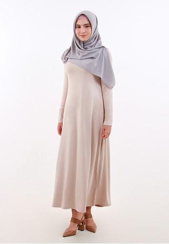 QUEENSLAND n/a Dress Kaos Lengan Panjang Wanita A04014Q Cream 4AC21AA1B7552CGS_1