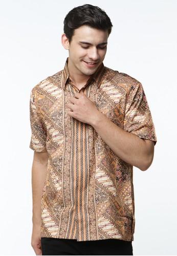 Waskito Hem Batik Semi Sutera - HB LE 18278 - Brown