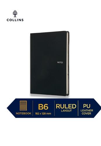 Collins black Collins Metropolitan Sydney  ─  Notebook B6 Ruled Charcoal 9ED5AHLAD29296GS_1
