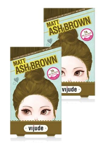 Mediheal brown Mediheal Vijude Hair Color Cream x2 Boxes (Shade: 7a Matt Ash Brown) D1E0FBE0F562B4GS_1