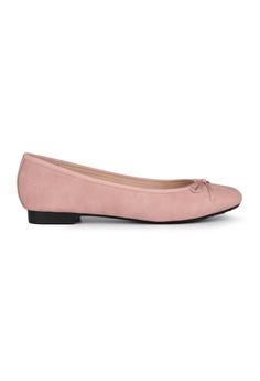 a6f32a17e5e4 MAUD FRIZON pink Textured Pu With Grosgrain Bow Ballerina 6662FSHFCAE177GS 1