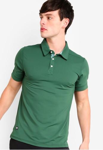 UniqTee green Micro Pique Sport Polo Shirt FE9B0AADD70992GS_1