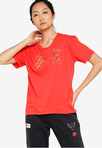 Under Armour red UA CNY Fashion Graphic Short Sleeve Tee E77C3AA65C9482GS_1
