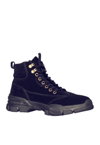 Twenty Eight Shoes black Stylish Cow Suede Mid Boots VMB3338 FBBB2SH9AA1A86GS_1