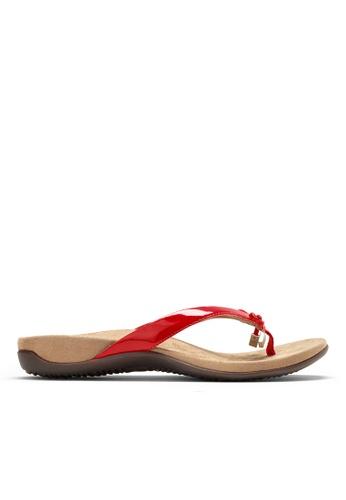 Vionic red Bella Toe Post Sandal 5CD7DSH1800007GS_1