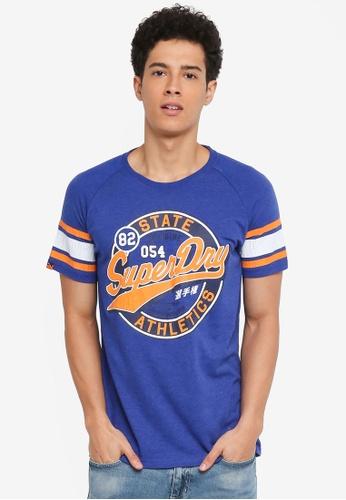Superdry blue 054 Major League Tee B935FAA021C505GS_1