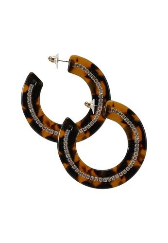 ALDO brown Gelia Pierced Earring 53CE7AC675FB8EGS_1