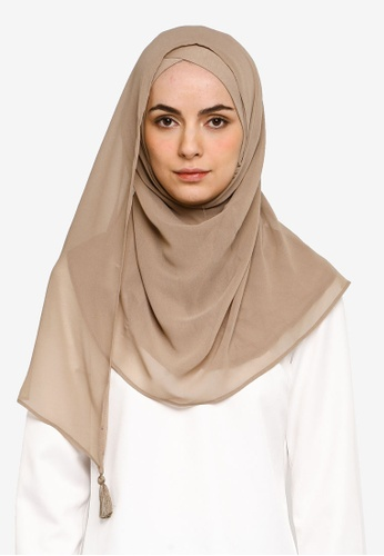 Bokitta beige Shore Instant Hijab EBE75AA43686ECGS_1