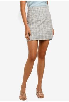 b9b91fc17d Miss Selfridge grey Grey Checkered Corset Mini Skirt 788ABAAA9C627BGS_1