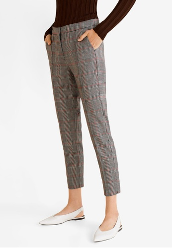 Mango red Checkered Suit Trousers C09F7AA219488FGS_1