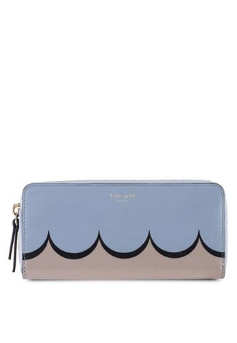 kate spade new york blue Slim Continental Wallet (cv) 29092AC3804954GS_1