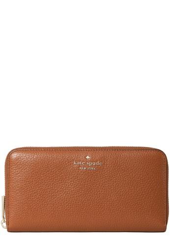 Kate Spade brown Kate Spade Leila Large Continental Wallet in Warm Gingerbread 6B7B8AC8DD14B5GS_1