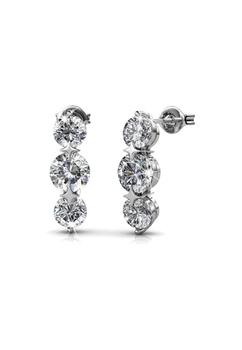 Her Jewellery silver Her Jewellery Elise Earrings (White Gold) with 18K Gold Plated BA566ACF72A2F2GS_1