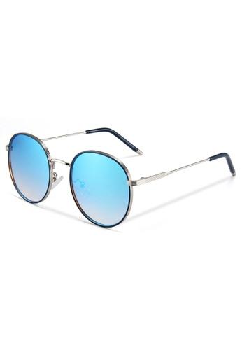 Quattrocento Eyewear Quattrocento Eyewear Italian Sunglasses with Blue Lenses Model Conti 25681GLCE9CC10GS_1