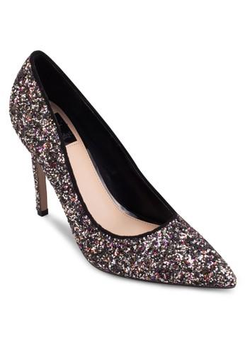 混色閃飾尖頭高跟鞋,esprit分店 女鞋, 鞋