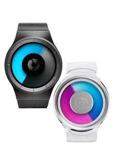 Bundle Watches - Celeste Gunmetal Mono and Proton Transparent