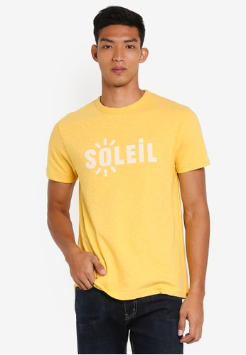 French Connection yellow Soleil Tee E8A70AA8CF3032GS_1