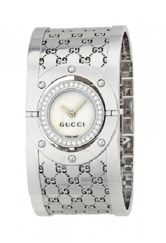 633116383ce Gucci silver GUCCI 112 Twirl Ladies Diamond Pave Watch 30D55ACDE6AD6AGS 1