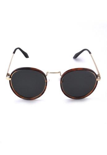 2i's to eyes brown Sunglasses Polarized│Vintage Round Frame│Green Lens│UV400 Protection│2is PittC CE33BGLEE8C99DGS_1