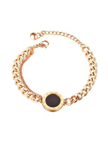 ADORA black Stainless Steel Rose Gold Bracelet 0F84FACF36EEEEGS_1