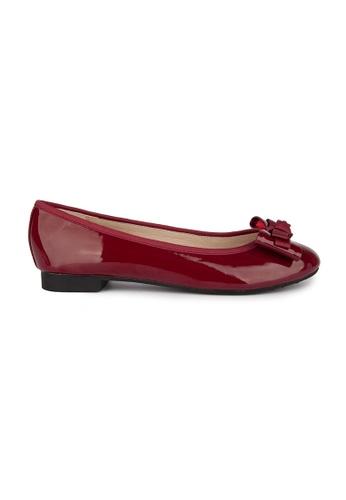 MAUD FRIZON red Patent Pu With Grosgrain Bow Ballerina DF030SH5F0876BGS_1