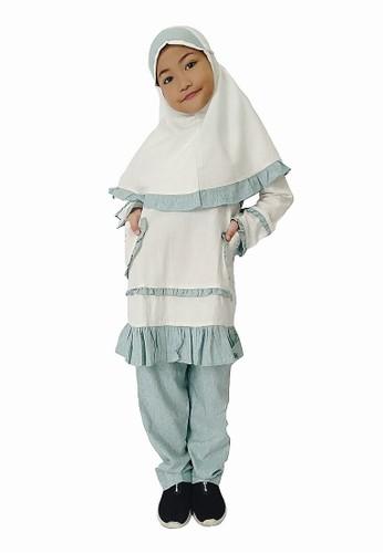 Arafah white and blue Setelan Anak Muslim Sabila 1FFCFKAF55583BGS_1