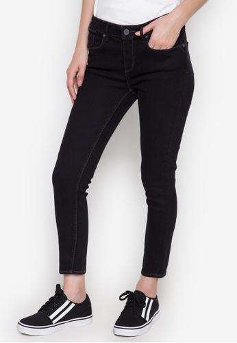 RRJ black Ladies Cropped Jeans (Mid Rise) RR205AA0K3ZRPH_1