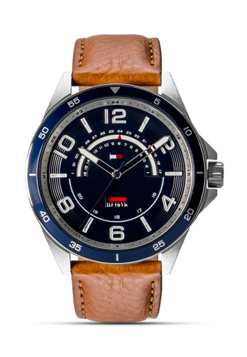 Tommy Hilfiger Watches brown Men's Leather Strap Watch TO959AC0JXLUPH_1