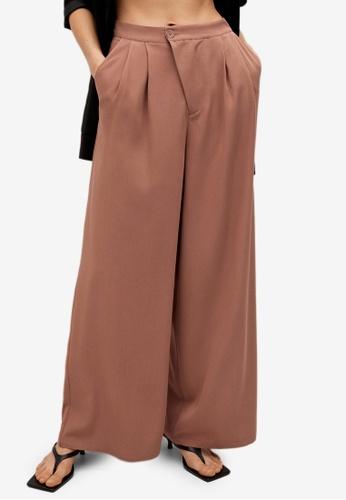 Mango orange Dart Palazzo Trousers 5021FAAE9076D8GS_1