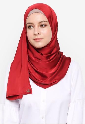 VERCATO red Glam Diva Satin Silk Shawl 89A34AA64D8B36GS_1