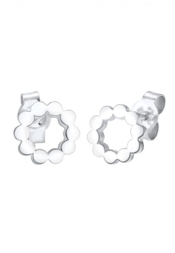 Elli Germany silver Perhiasan Wanita Perak Asli - Silver Anting Circle Geo EL948AC73QOWID_1