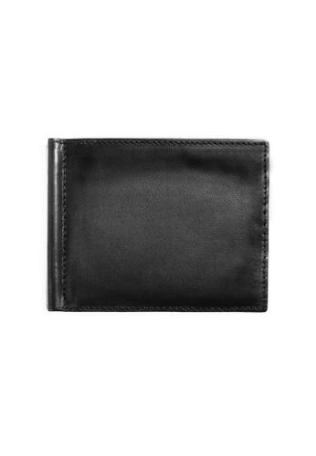 Crudo Leather Craft black Raffinato Money Clip Wallet - Vintage Black 68BF8ACF71BDC3GS_1