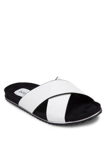 交叉帶zalora時尚購物網評價拖鞋, 女鞋, 涼鞋