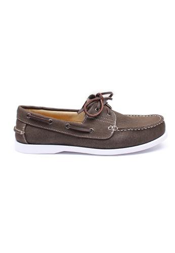 Moley grey Authentic Canvas Boat Shoe MO329SH73NHYSG_1