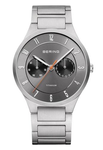 Bering silver Titanium 11539-779 Grey 39 mm Men's Watch 1F72FAC888A886GS_1