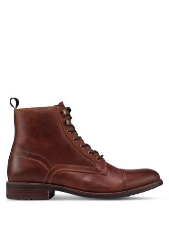 ALDO brown Giawet Derby Boots C9DB7SH3DDA6AAGS_1