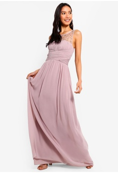 356e4cea063 38% OFF Little Mistress Mink Pearl Maxi Dress S  154.90 NOW S  95.90 Sizes  8 10 12 14 16